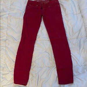 Express Zelda Red Jean Leggings
